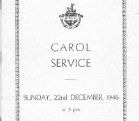 1946 Carol service front